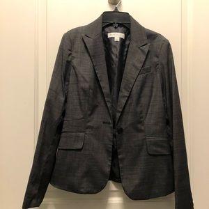 New York Company Gray One Button Blazer Suit 0